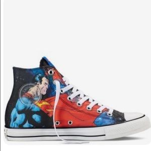 CONVERSE ALL-STAR superman hi-top lace-up sneaker